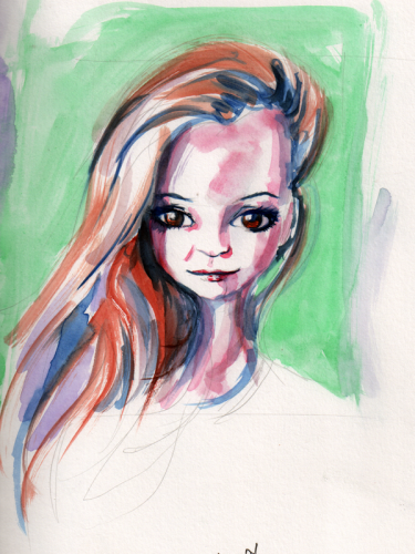 Random watercolor of a chick from Instagram